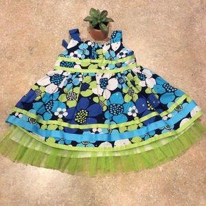 YOUNGLAND FLOWER SUMMER DRESS